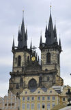 Church of our Lady View from Prague in Czech Republic Stock Images