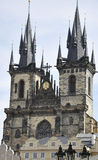 Church of our Lady View from Prague in Czech Republic Royalty Free Stock Images