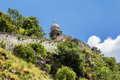 Church of Our Leady of Remedy in Kotor. Stock Image