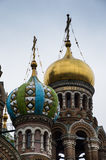 Church of Our Savior on Spilled Blood Domes royalty free stock photo