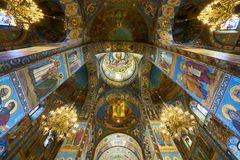 Church of Our Savior on Spilled Blood. In side of Church of Our Savior on Spilled Blood, Saint Petersburg, Russia Royalty Free Stock Images