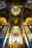 Church of Our Savior on Spilled Blood. In side of Church of Our Savior on Spilled Blood, Saint Petersburg, Russia Stock Image