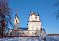 Church of Our Saviour on the bluff in Ryazan Stock Photos