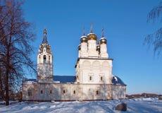 Church of Our Saviour on the bluff in Ryazan stock photos