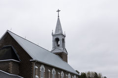 Church during overcast spring day. Church in Ontario during overcast spring day Royalty Free Stock Image