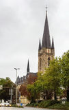 Church in Paderborn, Germany. Sacred Heart church settles down in the downtown of Paderborn, Germany stock images