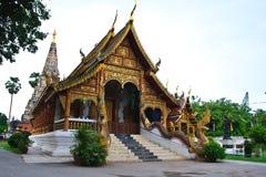 Church and pagoda Stock Photo