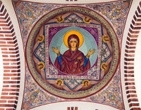 Church painting - Virgin Mary Stock Image
