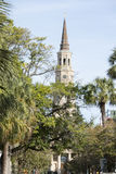 Church and Palm Trees, Charleston, South Carolina Stock Images