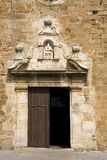 Church in Pals, Catalonia. Sant Pere church facade in Pals, Girona province, Catalonia, Spain Stock Photography