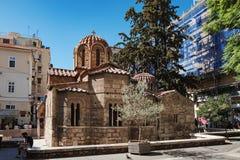 Church of Panaghia Kapnikarea in Athens, Greece royalty free stock image