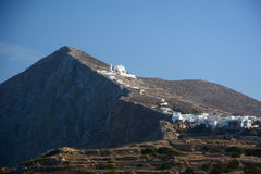 The church of Panagia. Chora, Folegandros. Cyclades islands. Greece. Folegandros Pholegandros is a small Greek island in the Aegean Sea which, together with Stock Photo