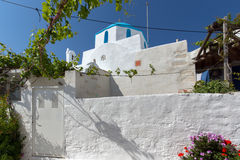 Church of Panagia Ekatontapiliani in Parikia, Paros island, Cyclades Stock Images