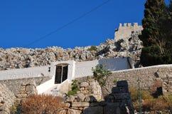 Church of the Panagia, Halki island Royalty Free Stock Photo
