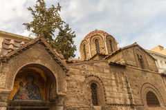 Church of Panagia Kapnikarea, an ancient church in Athens, Greece royalty free stock photography