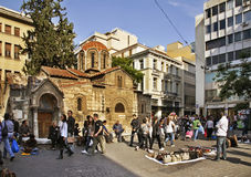 Church of Panagia Kapnikarea in Athens. Greece royalty free stock photography