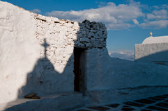 The Church of Panagia Paraportiani. Mykonos, Greece Stock Images