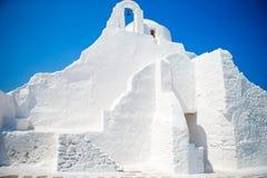 Church of Panagia Paraportiani on Mykonos island in Greece Stock Photos