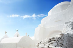 The Church of Panagia Paraportiani in Mykonos Stock Image