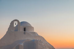 Church of panagia paraportiani. During sunset captured in june 2017 in mykonos Royalty Free Stock Image
