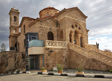 Church of Panagia Theoskepasti in Pathos. Cyprus stock photography