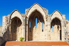 Church of Panagia tou Bourgou in Rhodes, Greece. Church of Panagia tou Bourgou Our Lady of the Bourg in Rhodes, Greece stock photo
