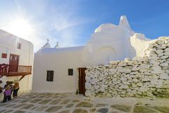 Church of Panayia Paraportiani, Mykonos, Greece Royalty Free Stock Photo