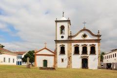 Church in Paraty, state Rio de Janeiro, Brazil. Church Igreja de Santa Rita de Cassia in Paraty, state Rio de Janeiro, Brazil stock photography