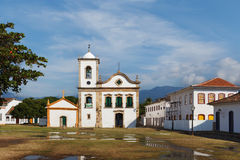 Church  in Paraty, state Rio de Janeiro, Brazil Royalty Free Stock Images