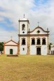 Church in Paraty, state Rio de Janeiro, Brazil. Church Igreja de Santa Rita de Cassia in Paraty, state Rio de Janeiro, Brazil. Selective focus royalty free stock photography