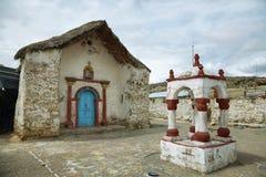 Church of Parinacota village Stock Images