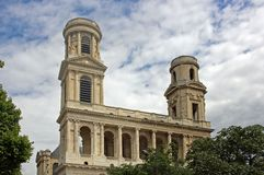 Church in paris royalty free stock images