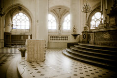 Church in Paris. Interior of a Gothic church in Paris, France Stock Image