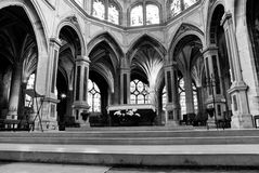 Church in Paris. Interior of a Gothic church in Paris, France Stock Photos