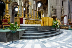 Church in Paris. Interior of a Gothic church in Paris, France Stock Photo