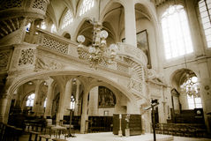 Church in Paris. Interior of a Gothic church in Paris, France Stock Images