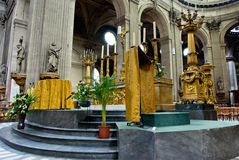 Church in Paris. Interior of a Gothic church in Paris, France Royalty Free Stock Photography