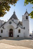 Church in the parish of Sant Antonio in Alberobello. Apulia, Italy royalty free stock photo