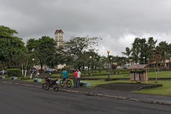Church and park central in la fortuna, costa rica Stock Photo