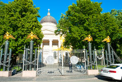 Church in a park Stock Photography
