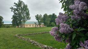 Church in a Park in the Russian country estate. Church in an old Russian manor Royalty Free Stock Image