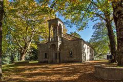 Church and Park in Town of Metsovo, Epirus Stock Image