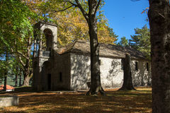 Church and Park in Town of Metsovo, Epirus Royalty Free Stock Photography
