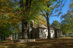 Church and Park in Town of Metsovo, Epirus Royalty Free Stock Images