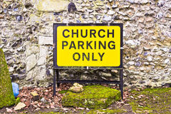 Church parking only Royalty Free Stock Photo