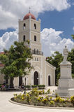 Church in Parque Marti, Guantanamo, Cuba. The Iglesia Parroquial de Santa Catalina, situated in the heart of Guantanamo city, Cuba Royalty Free Stock Images