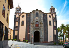 Church Parroquia de La Concepcion in Orotava, Tenerife,  Spain. Royalty Free Stock Photography