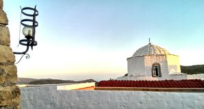 Church in Patmos Stock Photography