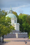 At the church pavilion Big Menshikov Palace september day. Oranienbaum Stock Image