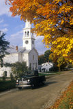 Church in Peacham, VT in Autumn Royalty Free Stock Photos